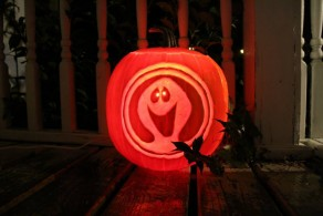 2013 Ghostbusters Pumpkin Light On