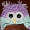 Crochet Owl Hat.