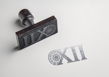 XII Rubber Stamp Mockup