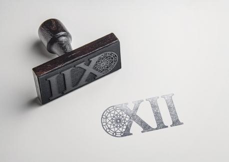 XII Rubber Stamp Mockup