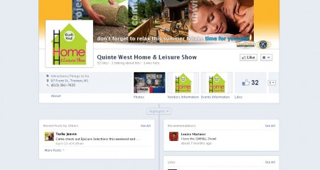 Quinte West Home Show – Facebook